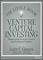 The Little Book of Venture Capital Investing