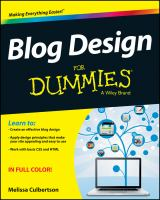 Blog Design for Dummies (For Dummies)