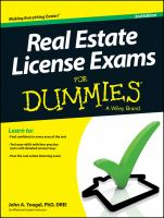 Real Estate License Exams for Dummies®