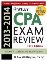 Wiley CPA Exam Review 2013-2014