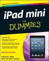 "Ipad ""mini"" for Dummies"