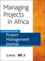 Managing Projects In Africa