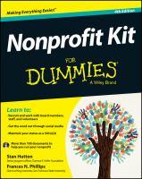 Nonprofit Kit for Dummies