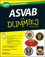 1001 ASVAB Practice Questions for Dummies