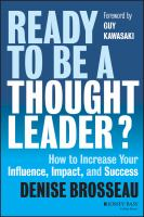 Ready to Be A Thought Leader?