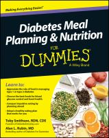 Diabetes Meal Planning & Nutrition for Dummies