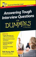 Image: Answering Tough Interview Questions for Dummies