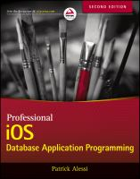 Professional IOS Database Application Programming, Second Edition