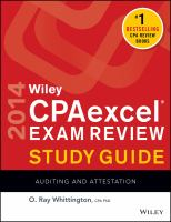 Wiley CPAexcel® Exam Review Study Guide 2014