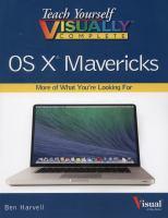 Teach Yourself Visually Complete OS X Mavericks