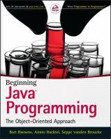 Beginning Java® Programming