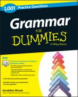 1,001 Grammar Practice Questions for Dummies