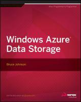 Windows Azure Data Storage