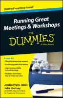 Running Great Workshops & Meetings for Dummies