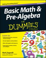Basic Math & Pre-algebra For Dummies