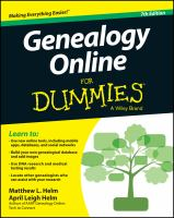 Genealogy online for dummies, 7th edition