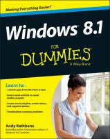Windows 8.1 for Dummies