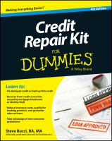 Credit Repair Kit for Dummies
