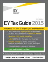 The EY Tax Guide 2015