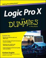 Logic Pro X for Dummies
