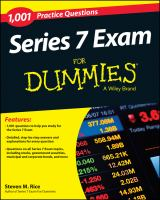 1,001 Series 7 Exam Practice Questions for Dummies /cby Steven M. Rice