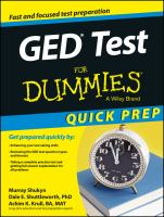 GED Test for Dummies