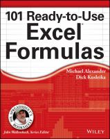 One Hundred One Ready-to-use Excel Formulas