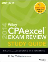 Wiley CPAexcel® Exam Review Study Guide July 2014