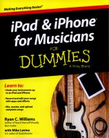 IPhone & IPad for Musicians for Dummies