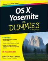 OS X Yosemite For Dummies