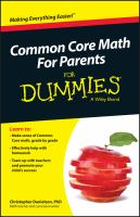 Common Core Math for Parents for Dummies