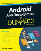 Android App Development for Dummies