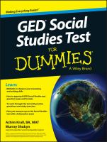 GED Social Studies Test for Dummies