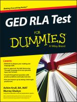 GED RLA Test for Dummies