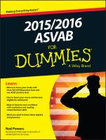 2015/2016 ASVAB for Dummies