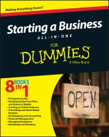 Starting A Business All-in-one for Dummies / by Kathleen R. Allen, PhD [and 15 Others]