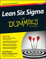 Lean Six Sigma for Dummies