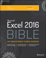 Microsoft Excel 2016 Bible