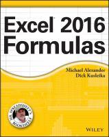 Excel® 2016 Formulas
