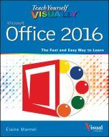 Teach Yourself Visually Office 2016