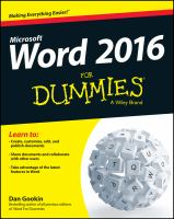 Word 2016 For Dummies