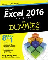Excel 2016 All-in-one Desk Reference for Dummies