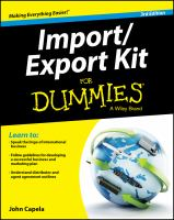 Import/Export Kit for Dummies