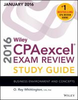Wiley CPAexcel Exam Review Study Guide January 2016