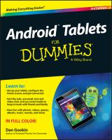 Android Tablets For Dummies