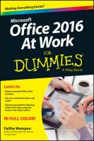 Microsoft Office 2016 at Work for Dummies