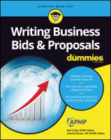 Writing Business Bids & Proposals for Dummies