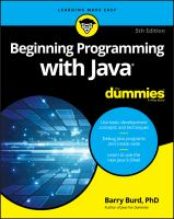 Beginning Programming With Java