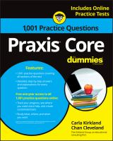 1,001 Praxis Core Practice Questions for Dummies