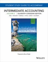 Study Guide to Accompany Intermediate Accounting, Volume 2